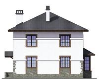 Проект бетонного дома 55-60 фасад
